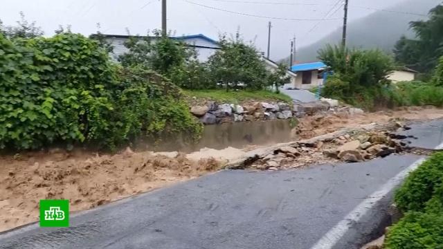 Проливные дожди вызвали убийственное наводнение вЮжной Корее.Южная Корея, наводнения, стихийные бедствия.НТВ.Ru: новости, видео, программы телеканала НТВ