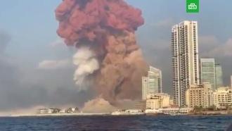 Мощный взрыв прогремел впорту Бейрута