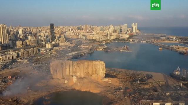 Разрушенный Бейрут с высоты птичьего полета.Ливан, взрывы.НТВ.Ru: новости, видео, программы телеканала НТВ