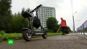 ВКрасноярске признали успешным эксперимент сдворниками на электросамокатах