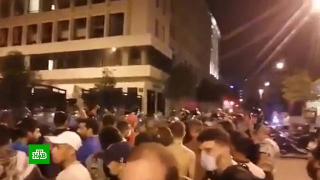 Разрушенный взрывом Бейрут охватили беспорядки.Ливан, беспорядки, взрывы, митинги и протесты.НТВ.Ru: новости, видео, программы телеканала НТВ