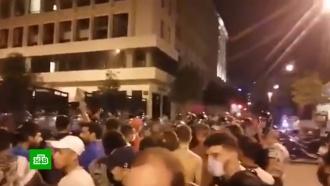 Разрушенный взрывом Бейрут охватили беспорядки