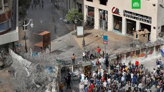 Вцентре Бейрута уздания парламента начались столкновения демонстрантов сполицией