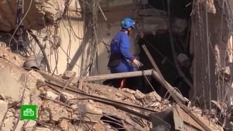 Как российские спасатели и врачи работают на развалинах Бейрута