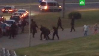 Милиция вМинске применила светошумовые гранаты