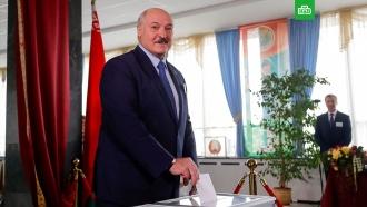 Лукашенко проголосовал на выборах вБелоруссии