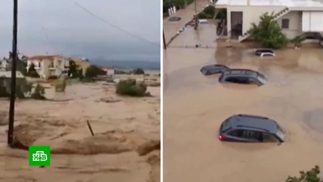 Грецию затопило «библейское» наводнение.Греция, наводнения, стихийные бедствия.НТВ.Ru: новости, видео, программы телеканала НТВ