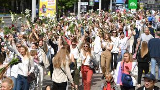 ВМинске проходят акции солидарности сзадержанными