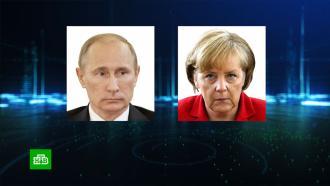 Путин иМеркель обсудили ситуацию вБелоруссии
