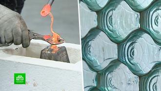 Вершина стеклоделия: в Петербурге возродили производство кирпичей Фальконье