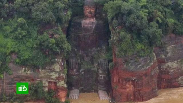 Статую Большого Будды в Китае частично затопило из-за паводка.Китай, ЮНЕСКО, наводнения, памятники.НТВ.Ru: новости, видео, программы телеканала НТВ