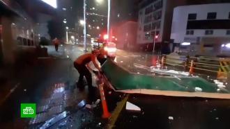 Тайфун «Майсак» убил пожилую кореянку иизуродовал сотни зданий