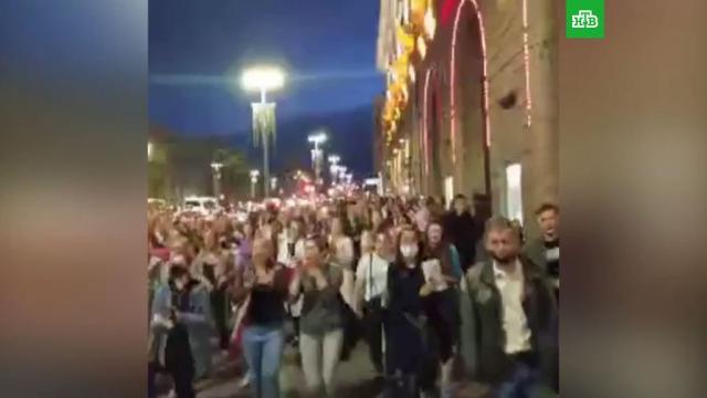ВМинске проходят очередные акции протеста: есть задержанные.Белоруссия, Минск, журналистика, задержание, митинги и протесты.НТВ.Ru: новости, видео, программы телеканала НТВ