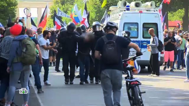 Эксперты объяснили упоминание имени Путина на протестах в Берлине.Германия, беспорядки, коронавирус, митинги и протесты.НТВ.Ru: новости, видео, программы телеканала НТВ
