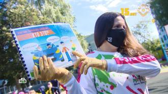 Школьница пережила ДТП и теперь учит первоклашек правилам движения.НТВ.Ru: новости, видео, программы телеканала НТВ