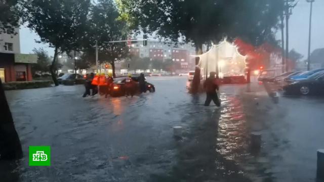 Тайфун «Майсак» затопил города и фермы на северо-востоке Китая.Китай, наводнения, стихийные бедствия, штормы и ураганы.НТВ.Ru: новости, видео, программы телеканала НТВ