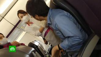 ВЯпонии впервые экстренно посадили самолет <nobr>из-за</nobr> пассажира без маски