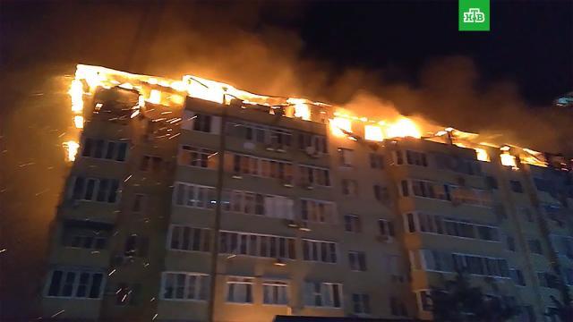 Крупный пожар вКраснодаре: выгорел целый этаж жилого дома.Краснодар, пожары, эвакуация.НТВ.Ru: новости, видео, программы телеканала НТВ