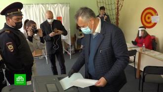 Кандидаты в губернаторы Ленобласти проголосовали на выборах