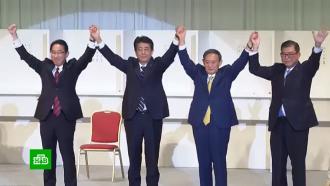 Путин подтвердил готовность кдиалогу сновым правительством Японии