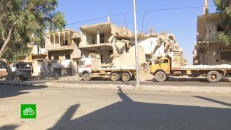 Всирийской Пальмире идет активный ремонт домов ишкол