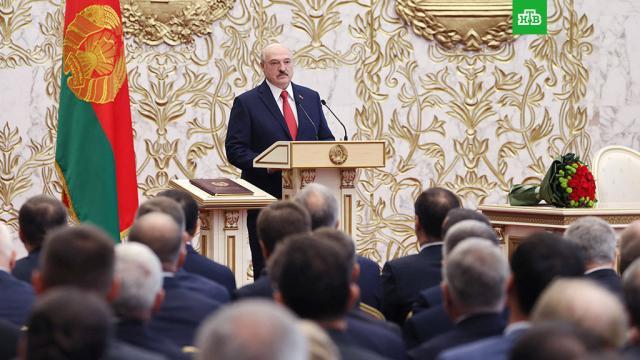 Лукашенко ответил на упреки в «тайной» инаугурации.Президент Белоруссии Александр Лукашенко ответил на заявления западных лидеров, назвавших его инаугурацию в Минске «секретной»..Белоруссия, инаугурации, Лукашенко, митинги и протесты.НТВ.Ru: новости, видео, программы телеканала НТВ