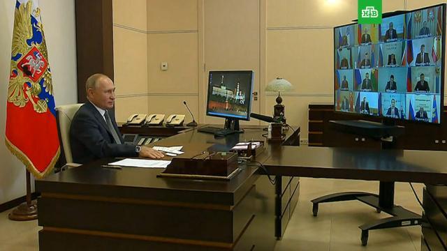 Путин: очень не хотелосьбы возвращаться ккоронавирусным ограничениям.Путин, болезни, губернаторы, коронавирус, эпидемия.НТВ.Ru: новости, видео, программы телеканала НТВ