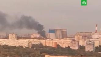 Мощный взрыв на заводе вЛюберцах