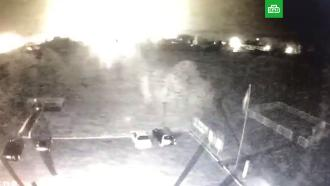 Момент авиакатастрофы под Харьковом