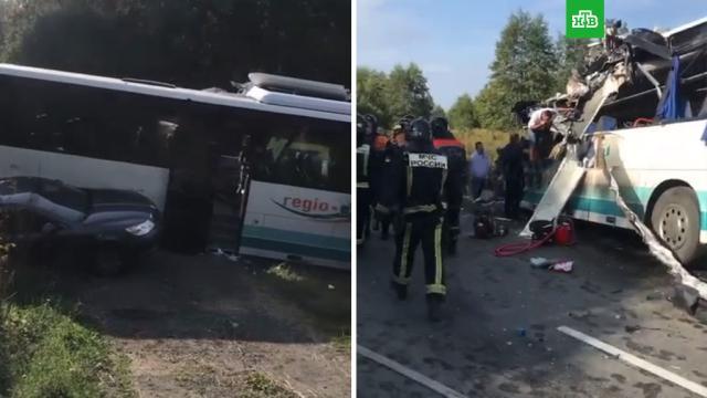 Шесть человек погибли вДТП савтобусом под Калининградом, восемь ранены.ДТП, Калининградская область, автобусы.НТВ.Ru: новости, видео, программы телеканала НТВ