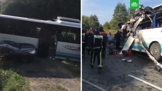 Шесть человек погибли вДТП савтобусом под Калининградом, восемь ранены