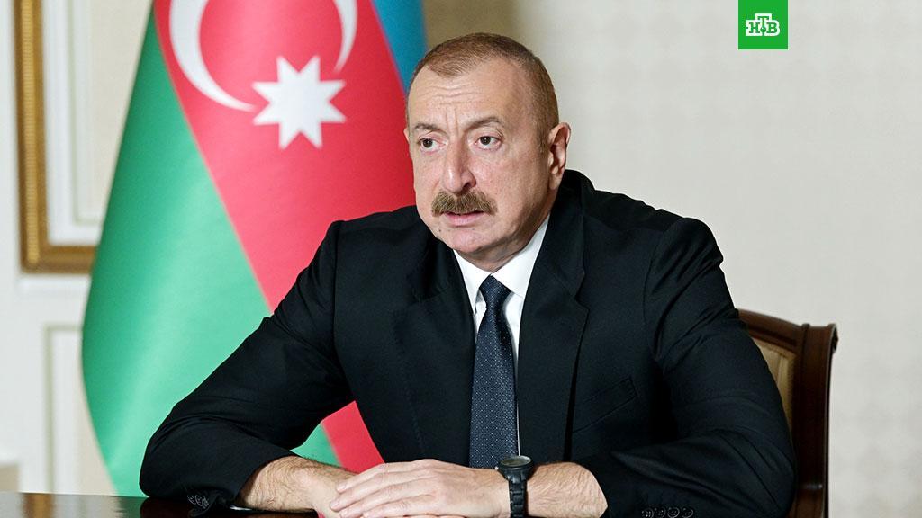 Президент Азербайджана назвал условие прекращения боев в Карабахе