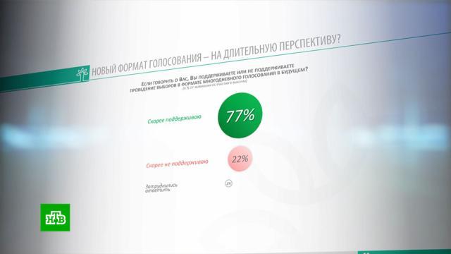 ВЦИОМ: россияне поддерживают многодневное голосование.ВЦИОМ, опросы, социология и статистика.НТВ.Ru: новости, видео, программы телеканала НТВ