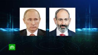 Путин обсудил сПашиняном бои вНагорном Карабахе