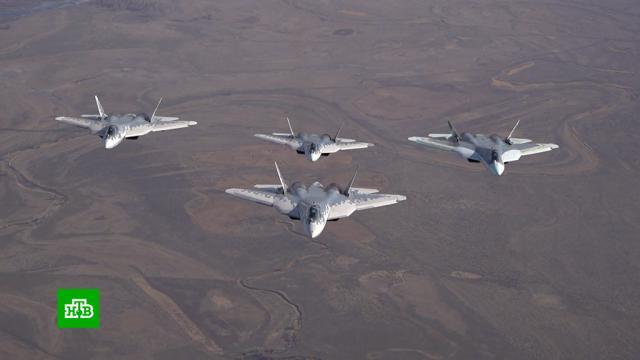 Под Астраханью испытали новейшее оборудование истребителя Су-57.авиация, армия и флот РФ, военные испытания, вооружение, самолеты.НТВ.Ru: новости, видео, программы телеканала НТВ