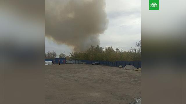 Под Рязанью из-за горящей травы начали взрываться снаряды.Рязанская область, взрывы, эвакуация.НТВ.Ru: новости, видео, программы телеканала НТВ