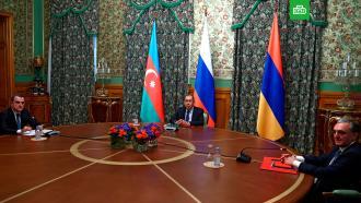 Опубликовано совместное заявление опрекращении огня вНагорном Карабахе
