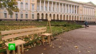 ВМихайловском саду Петербурга появилась особенная скамейка