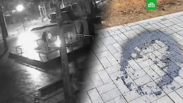 ВКоми дети сожгли траурный венок на Вечном огне.НТВ.Ru: новости, видео, программы телеканала НТВ