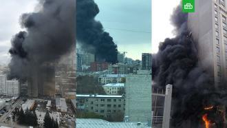 Крупный пожар в строящемся доме в Екатеринбурге