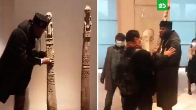 Попытку выноса экспоната из Лувра сняли на видео.Африка, Конго, Франция, выставки и музеи, история, скандалы.НТВ.Ru: новости, видео, программы телеканала НТВ