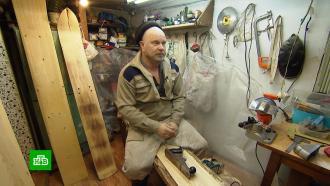 Сибирский умелец производит уникальные лыжи по старинным технологиям