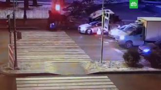 Карета врезалась вавтомобиль вцентре Петербурга