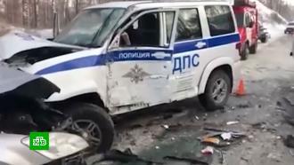 Инспекторы ДПС спасли автобус сдетьми от столкновения синомаркой