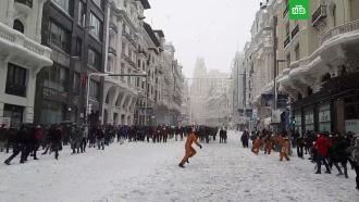 «Снегопад века» вМадриде