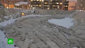 После снегопадов вКраснодаре рухнул купол спорткомплекса «Екатеринодар»