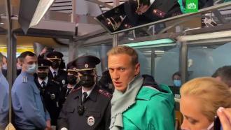 Навальный задержан вШереметьево