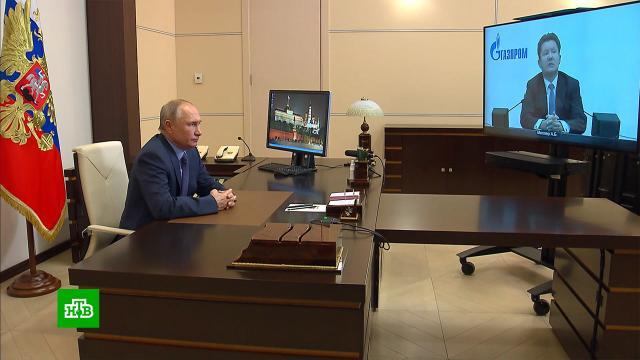 Миллер доложил Путину о темпах газификации регионов.Миллер, Путин, газ, энергетика, Газпром.НТВ.Ru: новости, видео, программы телеканала НТВ