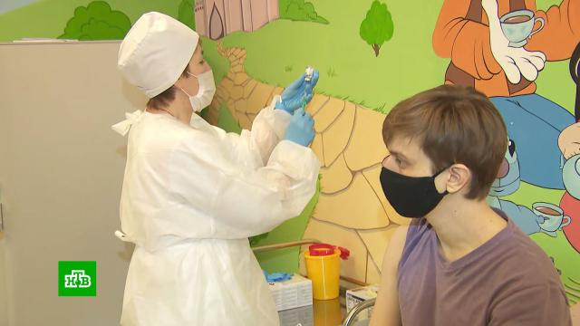 В Москве открылись мобильные пункты вакцинации от COVID-19.Москва, коронавирус, эпидемия.НТВ.Ru: новости, видео, программы телеканала НТВ