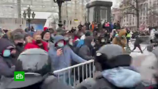 Сторонники Навального вышли на незаконные акции, несмотря на предупреждения.Москва, Навальный, митинги и протесты, оппозиция.НТВ.Ru: новости, видео, программы телеканала НТВ